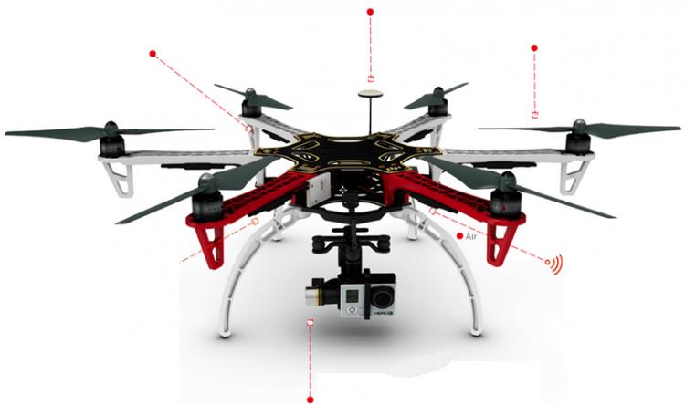 partes de drone